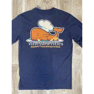 Vineyard Vines Thanksgiving Turkey Whale Tee LS